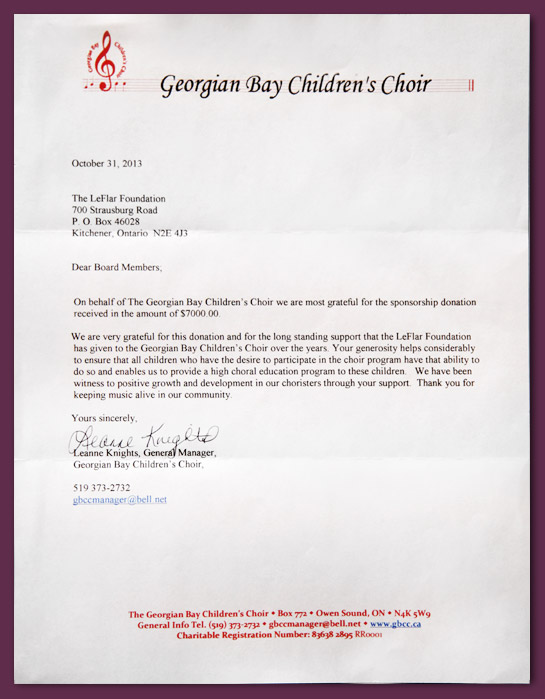 How to write an application letter to join a choir